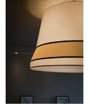 Contardi Design hanging lamp 'Audrey' large decorated with silk detail