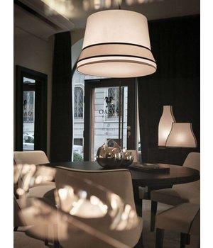 Contardi Design hanglamp 'Audrey' gedecoreerd met accenten van zijde