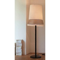 Design floor lamp 'Audrey' large decorated with silk detail