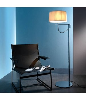 Contardi Floor lamp design 'Divina' with fabric shade, height 145cm