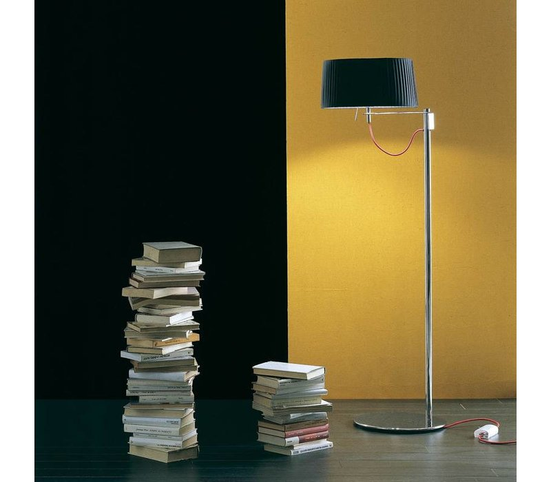 Floor lamp design 'Divina' with fabric shade, height 145cm