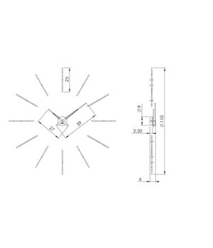 Nomon Large wall clock 'Merlin gold n'