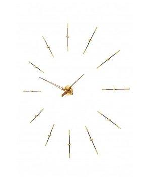Nomon Grote wandklok 'Merlin Gold n' in minimalistisch design met gouden details