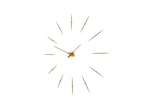Nomon Large wall clock 'Merlín gold n'