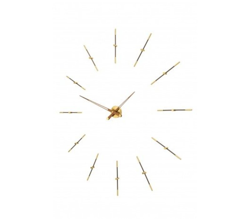 Large wall clock 'Merlin gold n'