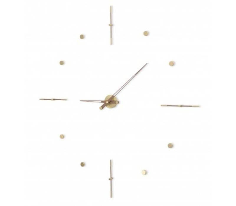 Huge clock 'Mixto Gold N' available in 110cm, handmade in Spain