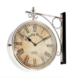 Eichholtz Station clock Victoria double-sided in classic style 39 cm