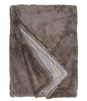 Winter-home Bontplaid 'Seal Taupe' in 140 x 200cm
