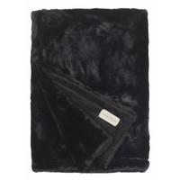 Bontplaid 'Seal Black' in 140 x 200cm