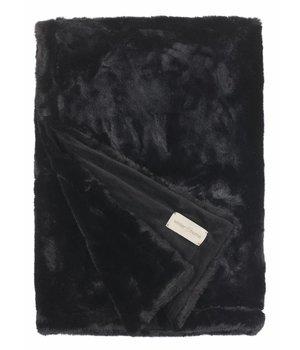 Winter-home Bontplaid 'Seal Black' in 140 x 200cm
