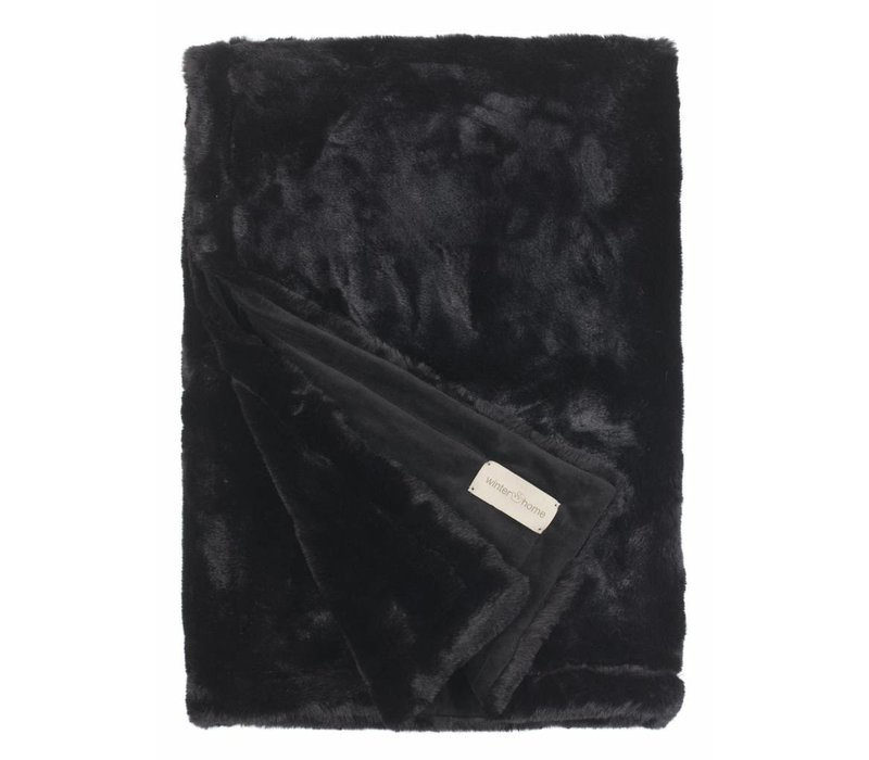 Felldecke 'Seal Black' in 140 x 200cm