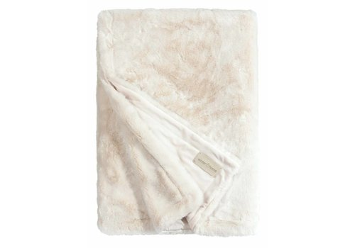 Winter-Home Faux fur plaid 'Seal Ivory' Supersoft