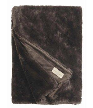 Winter-home Felldecke 'Seal Hot Chocolat' in 140 x 200cm