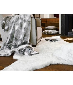 Winter-home Bontplaid 'Snow Rabbit' in 140 x 200cm