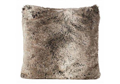 Winter-Home Kussen bont - Yukonwolf