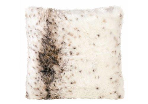 Winter-Home Cushion faux fur 'Lynx'