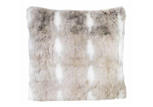 Winter-Home Cushion faux fur 'Snow Rabbit'