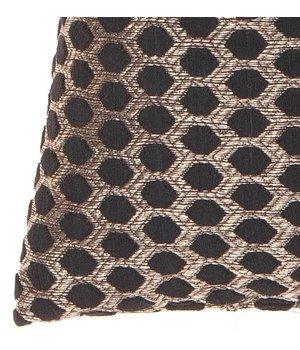 Claudi Cushion Sergio in color Black Gold