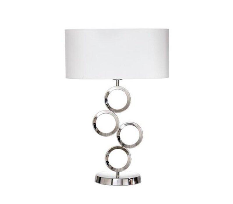 Grosse Tafellampe mit zierlichem Fuss, Höhe 64 cm