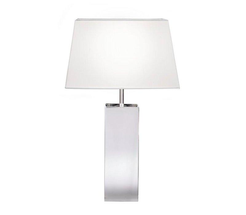 Tischlampe mit quadratischer Lampenkappe, Höhe 53 cm