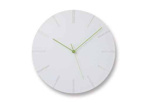 Lemnos Modern clock 'Carved II'