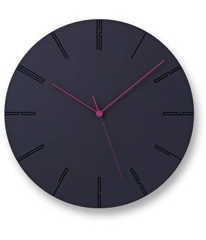 Lemnos Modern clock 'Carved II' is available in two colors; black and white.