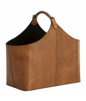 Eichholtz Leather Magazine Holder, 49x 28 x 45cm