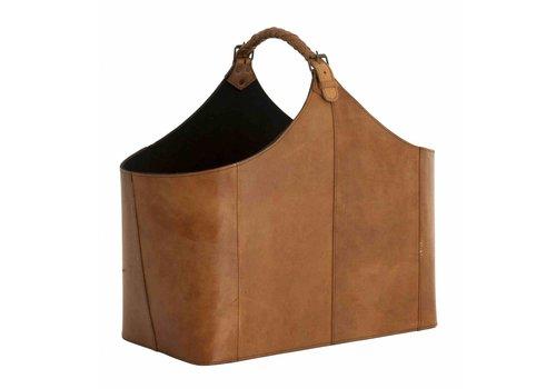 Eichholtz Lederen lectuurmand - Bag Brunello