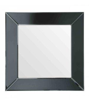 Eichholtz Vierkante spiegel 'Gianni' met zwarte spiegellijst 91x91cm