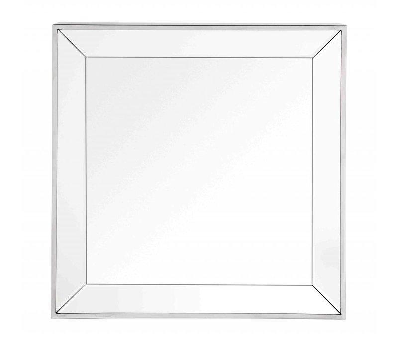 Quadratischer Spiegel mit Spiegelglas Rahmen 60 x 60 cm