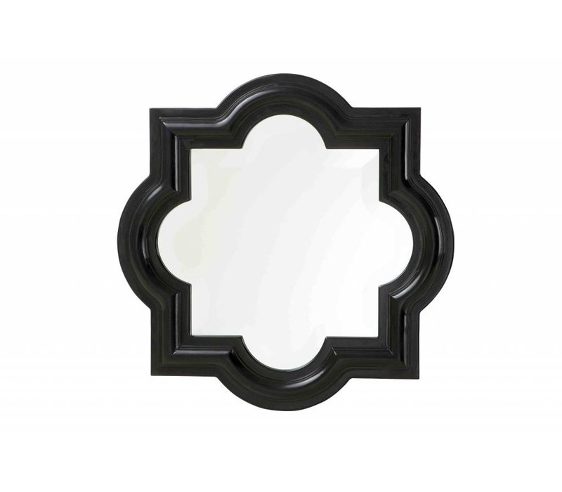 Schwarze Spiegel Dominion 50x50cm
