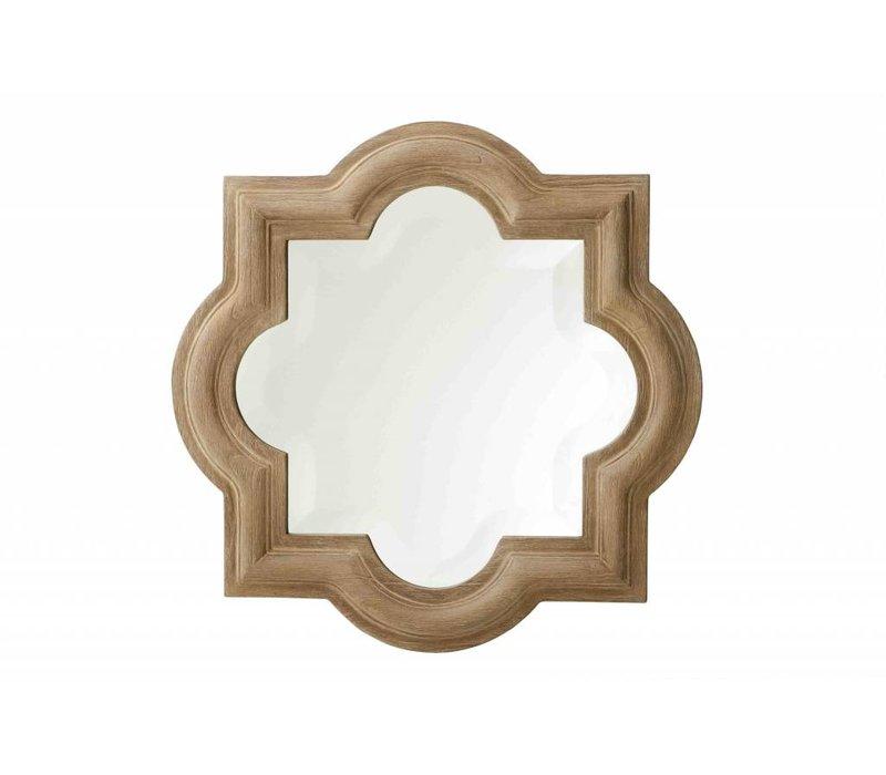 Houten spiegel met lijst 50x50cm