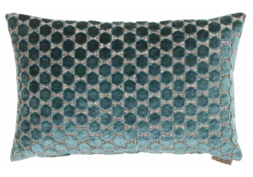 CLAUDI Chique Cushion Orsina Petrol