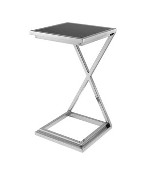 Eichholtz Side table 'Cross', black glass table top