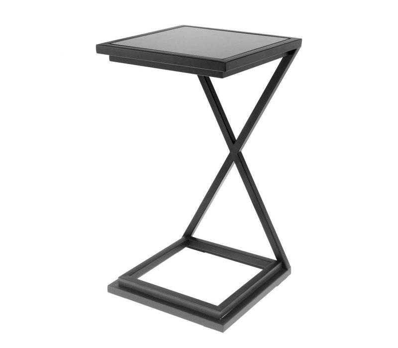 Side table 'Cross Black' 33 x 33 x 60cm (h)