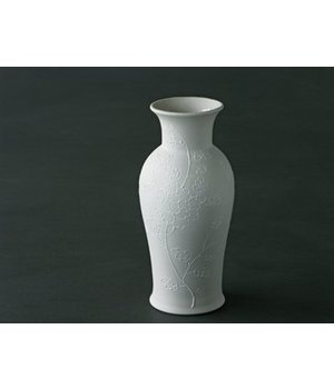 Vase Thai Blue high ink white