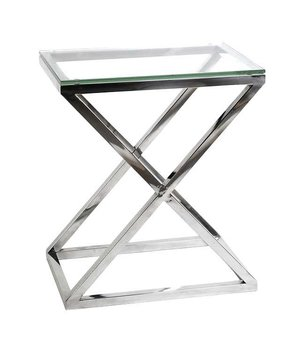 Eichholtz Glass Side table 'Criss Cross High' 62 x 42 x 72cm (h)