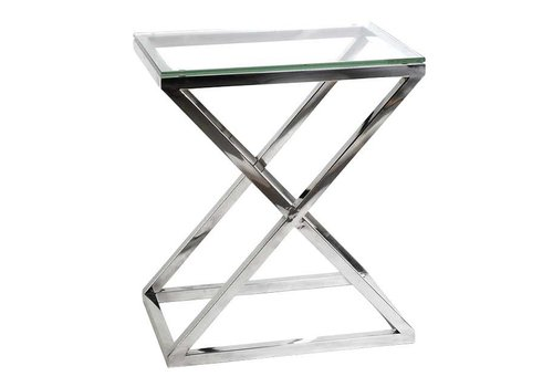 Eichholtz Glass Side table - Criss Cross High