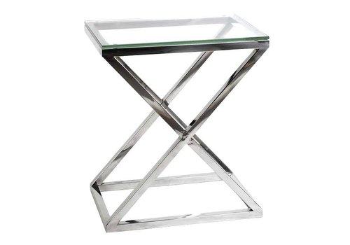 Eichholtz Glazen bijzettafel - Criss Cross High