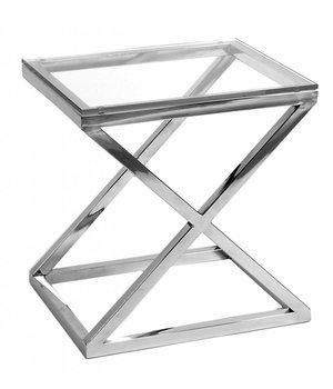 Eichholtz Couchtisch Glas - Criss Cross 56 x 46 x 59 cm (h)