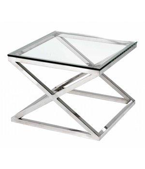 Eichholtz Glass Side table 'Criss Cross' 65 x 65 x 49cm (h)