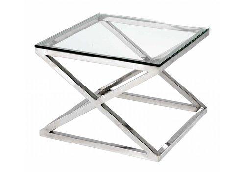 Eichholtz Couchtisch Glas quadratisch- Criss Cross
