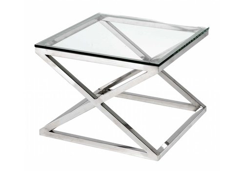 Eichholtz Glass Side table - Criss Cross Square