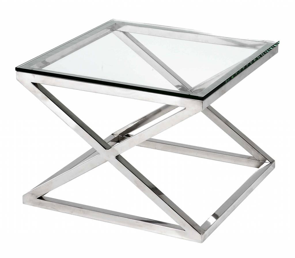 Bijzettafel Glas Chroom Vierkant.Bijzettafel Vierkant Glas Sarkarijobs