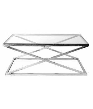Eichholtz Glass Coffee table 'Criss Cross' 120 x 70 x 47cm (h)