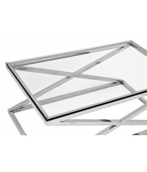 Eichholtz Couchtisch Glas - Criss Cross 120 x 70 x 47 cm (h)