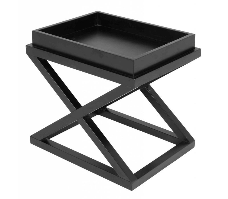 Side table black 'Mcarthur' 61 x 48 x 57cm (h)