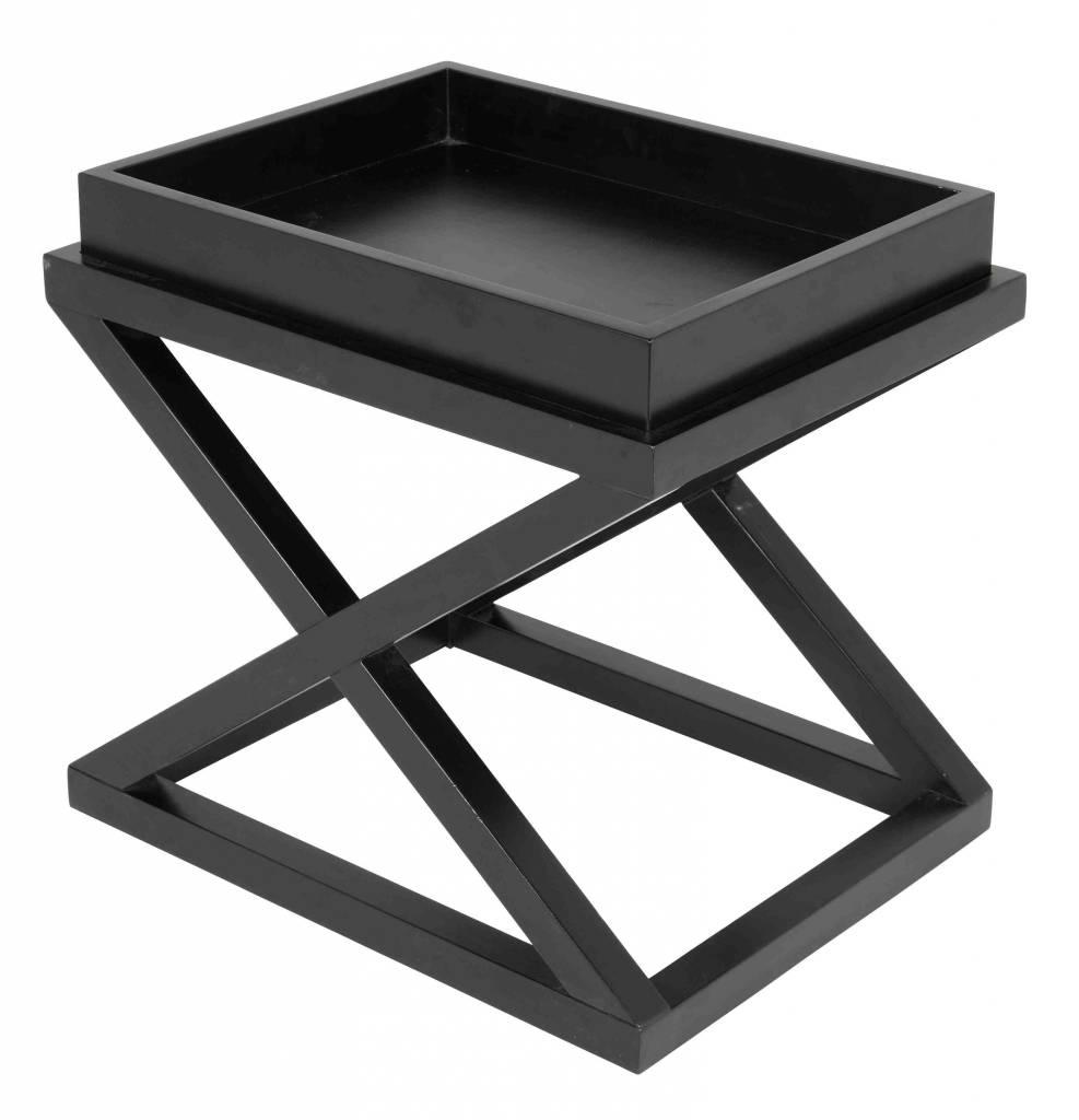 Bijzettafel zwart u0026#39;Mcarthur van het luxe label Eichholtz. Deze tafel ...