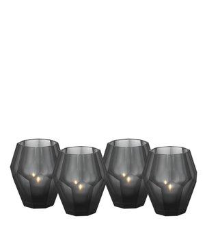 Eichholtz Teelichthalter - Okhto black S; Set von 2