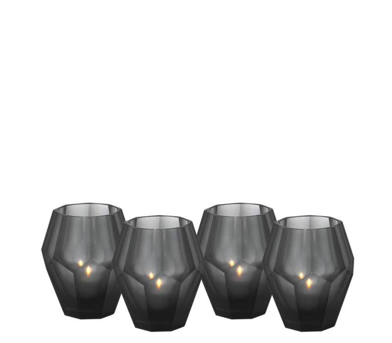 Candle holders - Okhto black 'S' set of 4